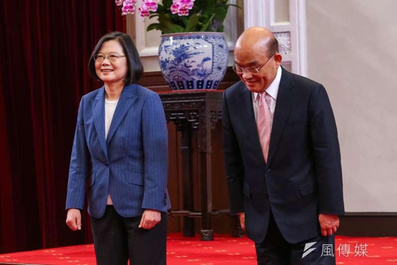 總統府聲稱「遭駭」,包括蔡英文和蘇貞昌幾次會談的「談參」都被流出。(顏麟宇攝)