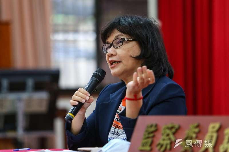 20200512-監察委員王幼玲12日召開「糾正勞動部未就減低移工職災提出具體有效措施」記者會。(顏麟宇攝)