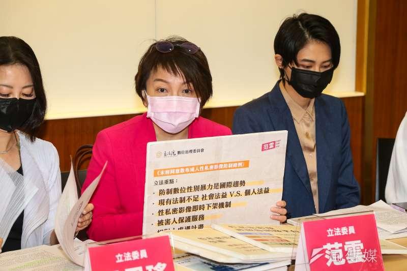 20200512-民進黨立委范雲12日召開「我的性私密我自主!台灣不能有N號房 」記者會。(顏麟宇攝)