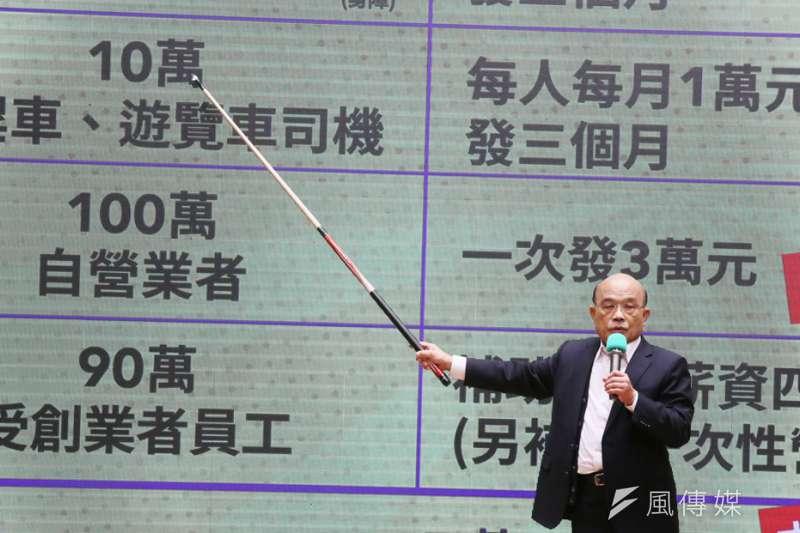 蘇貞昌內閣獲得民眾63%滿意的高評價。(柯承惠攝)
