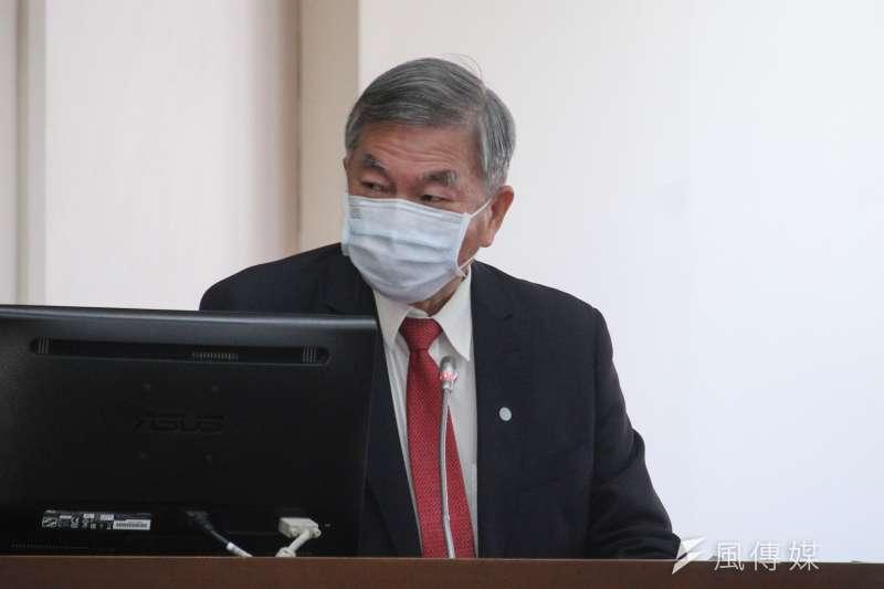經濟部長沈榮津(見圖)感謝口罩國家隊的努力,並表示經濟部將掌握防疫物資外銷的商機,協助口罩國家隊打國際盃。(資料照,蔡親傑攝)