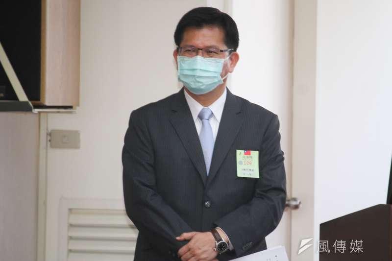 20200513-交通部長林佳龍出席立院部會聯席會議。(蔡親傑攝)