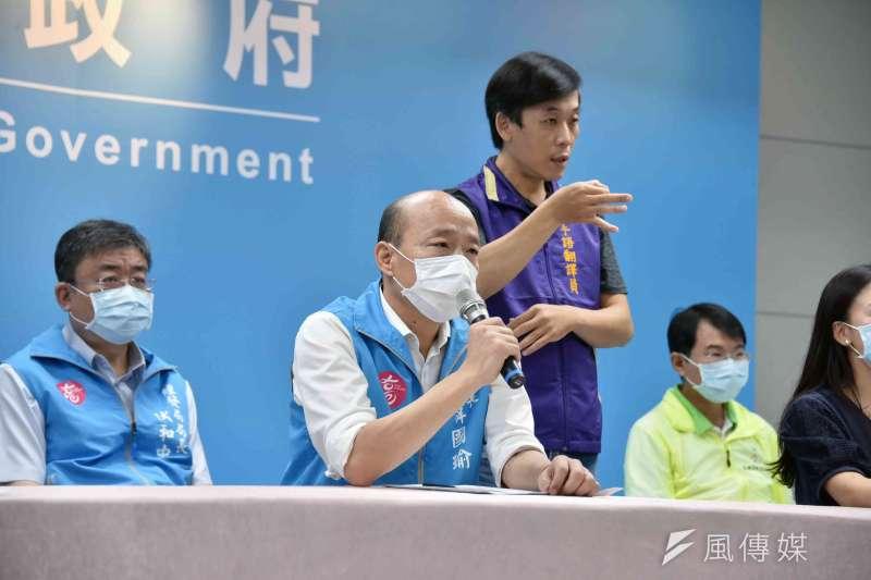 作者認為高雄市長韓國瑜的罷免案關乎於台灣「民主生命」是否能萬壽無疆。(資料照,徐炳文攝)