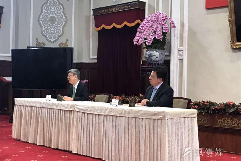 20200514-副總統陳建仁(左)。(黃信維攝)