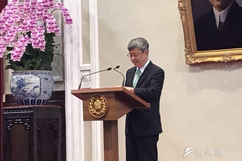 副總統陳建仁宣布卸任後將放棄副總統禮遇,接受中研院邀請擔任特聘研究員。(資料照,黃信維攝)