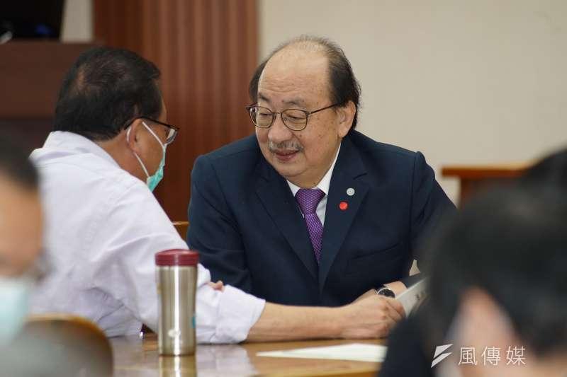 民進黨立院黨團總召柯建銘說明監委提名狀況。(資料照片,盧逸峰攝)