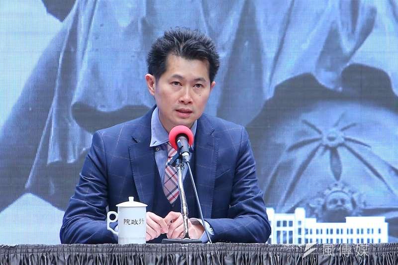 行政院發言人丁怡銘稱台北市牛肉麵節冠軍店家採用萊牛,引發軒然大波。(顏麟宇攝)