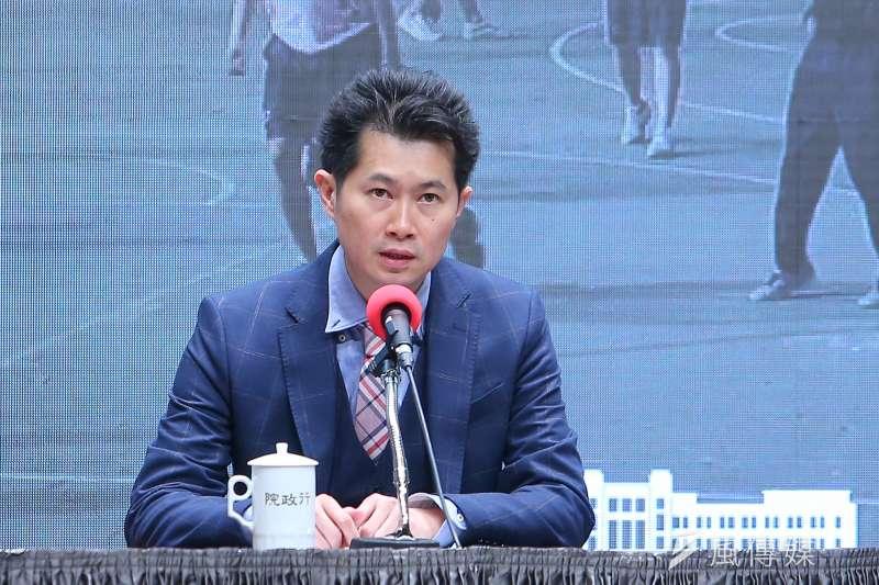 20200519-行政院準發言人丁怡銘19日召開「新內閣人事」公布記者會。(顏麟宇攝)