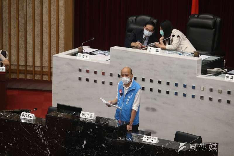 仁武垃圾焚化廠合約即將到期,針對議員19日於市長施政與質詢中建請中止招商公告,市長韓國瑜作出原則暫緩公告的宣示。(圖/徐炳文攝)