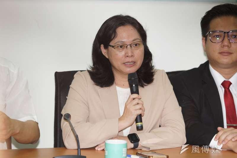 20200520-立委賴香伶20日針對蔡英文總統新任期就職發表談話。(盧逸峰攝)