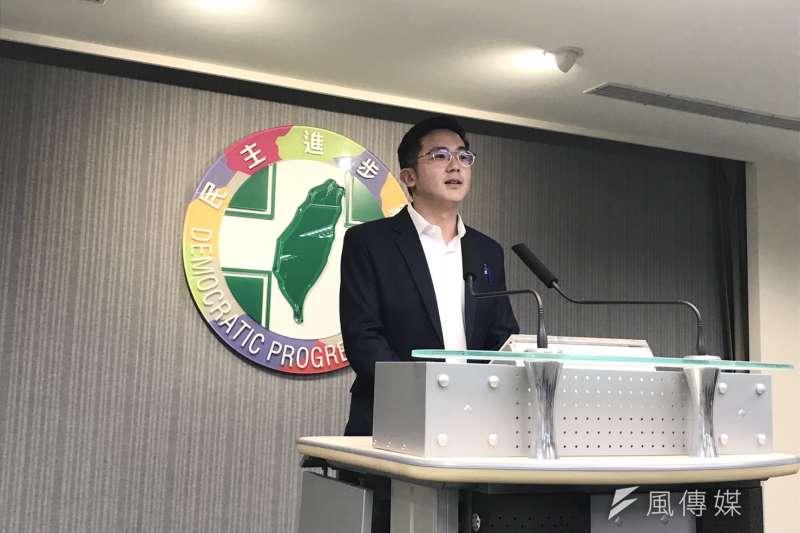 民進黨發言人廖泰翔(見圖)表示,關於罷韓行動,民進黨立場一直都很清楚,也尊重高雄市民投票權利。(黃信維攝)