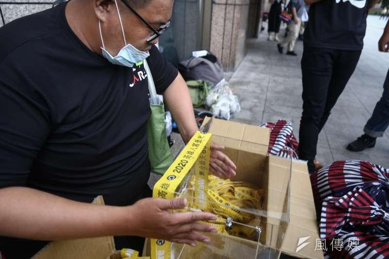20200520-光復高雄罷韓總部主辦「領民主黃絲帶 帶高雄人回家」活動。(陳品佑攝)