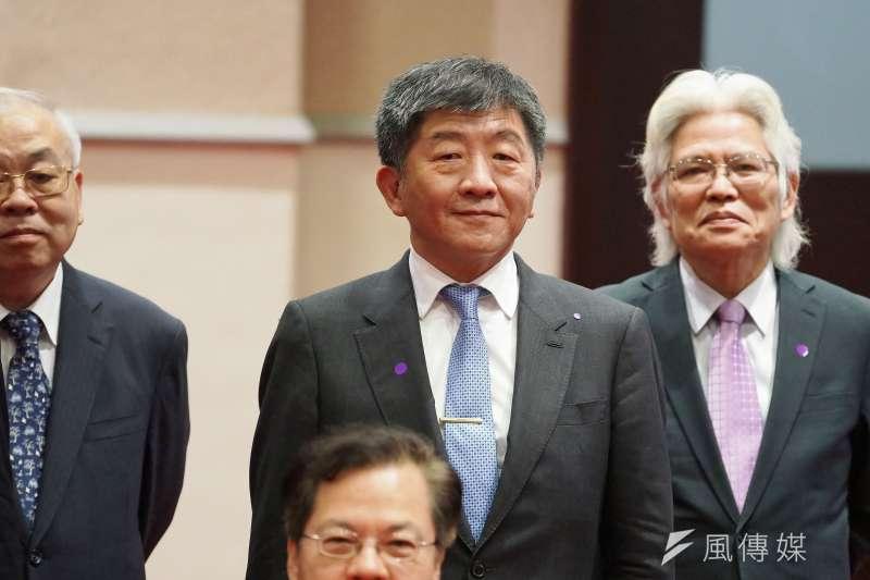 20200520-衛福部長陳時中20日出席閣員合影。(盧逸峰攝)