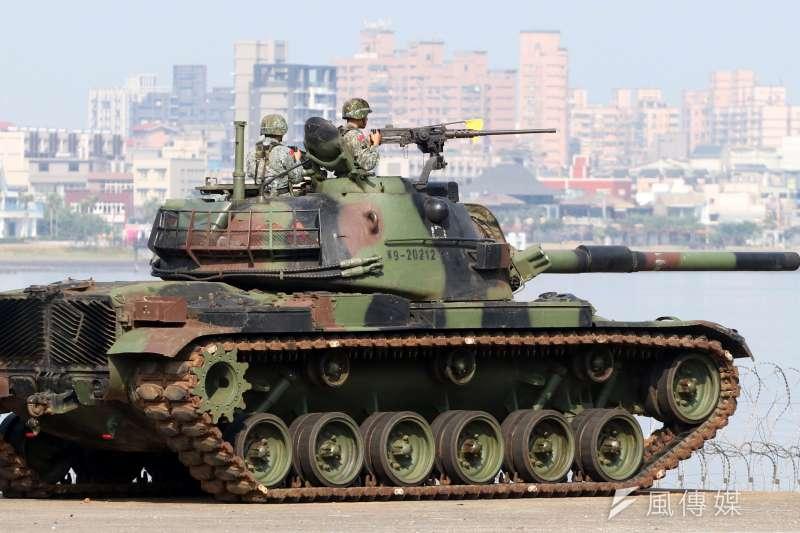 國台辦前副主任王在希表示,不動用軍事武力這個手段,光是依靠政治談判、民間交流、一味讓利,可能難以達到實現兩岸統一的目的。圖為河防部隊CM-11戰車。(資料照,蘇仲泓攝)