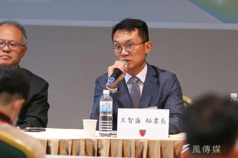 中華亞太菁英交流協會秘書長王智盛(見圖)22日出席「520後兩岸局勢與國際秩序解析」座談會,並針對總統蔡英文就職演說進行分析。(顏麟宇攝)
