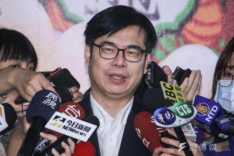 針對外界關心韓國瑜是否提訴訟卡補選,行政院副院長陳其邁(見圖)今(9)日表示,並不樂見選舉還要繼續拖延,這對高雄市民無益。(資料照,蔡親傑攝)