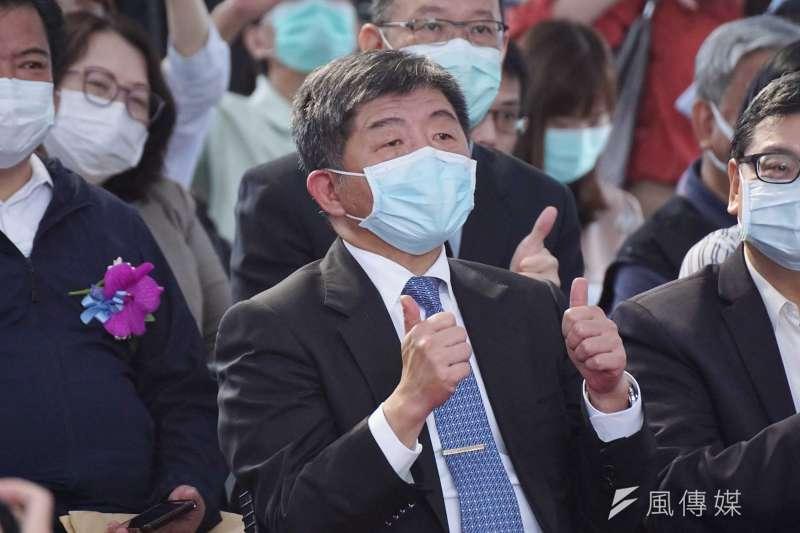 衛福部長陳時中5月27日出席防疫旅遊踩線團啟動大會。(盧逸峰攝)