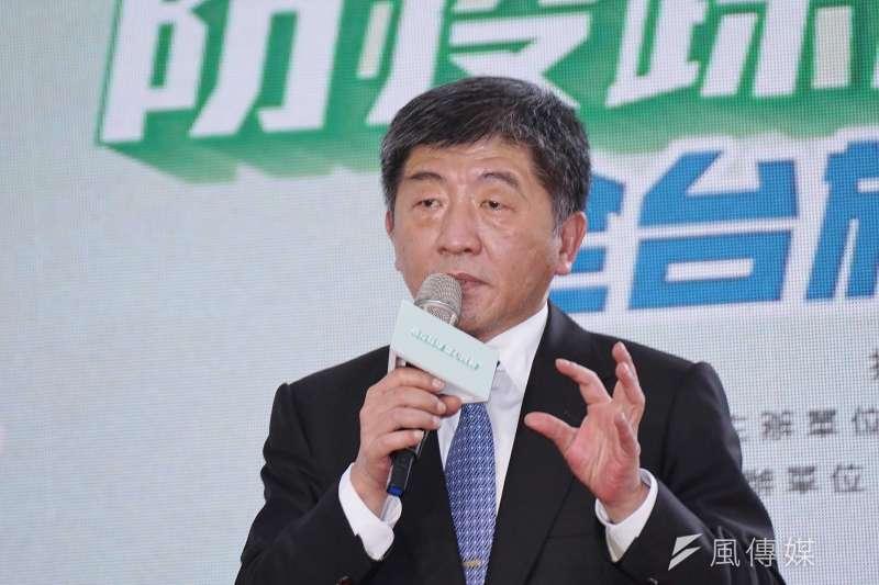 中央流行疫情指揮中心指揮官陳時中(見圖)28日公布「實聯制措施指引」。(資料照,盧逸峰攝)