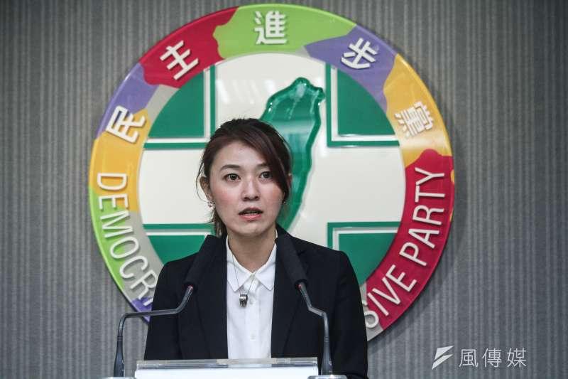 民進黨發言人顏若芳(見圖)表示,民進黨中常會將改採線上視訊會議方式進行。(資料照,蔡親傑攝)