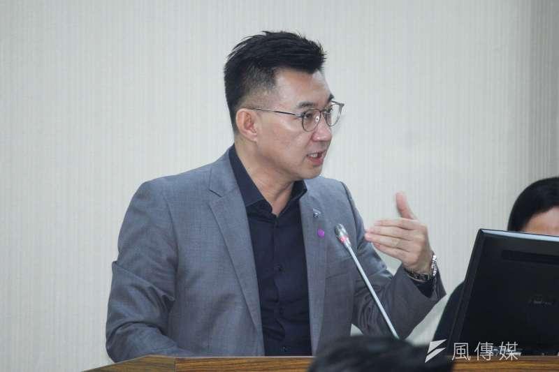 國民黨主席江啟臣27日於中常會中發表談話,並再次肯定高雄市長韓國瑜施政表現。(蔡親傑攝)