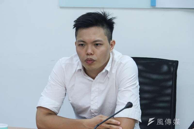 20200527-台灣民眾黨召開「進擊的素人,打破地方舊勢力」記者會,圖為崁頂鄉長候選人廖國富。(蔡親傑攝)