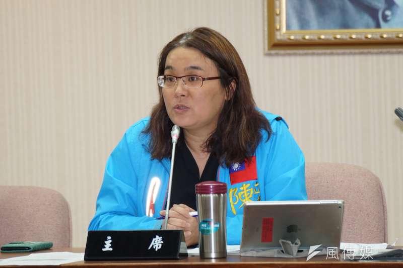 國民黨立委陳玉珍(見圖)28日質詢時,一席「難道香港人都被掃射完畢嗎?」發言,遭民進黨立委洪申翰質疑不當。(資料照,盧逸峰攝)