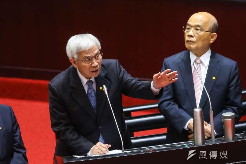 20200529-央行總裁楊金龍29日於立院備詢 。(顏麟宇攝)