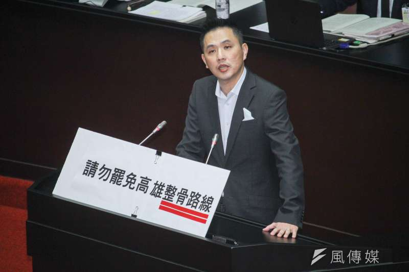 立委陳以信29日在立法院於國是論壇發言,呼籲高雄市民再給高雄市長韓國瑜一次機會。(蔡親傑攝)