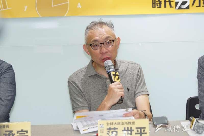 原國民黨智庫(國家政策研究基金會)重要成員的范世平教授投奔到以臺灣民主及國家主體性為方向的路線。(資料照,盧逸峰攝)