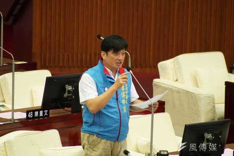 20200602-台北市議員李傅中武2日出席市政總質詢。(盧逸峰攝)