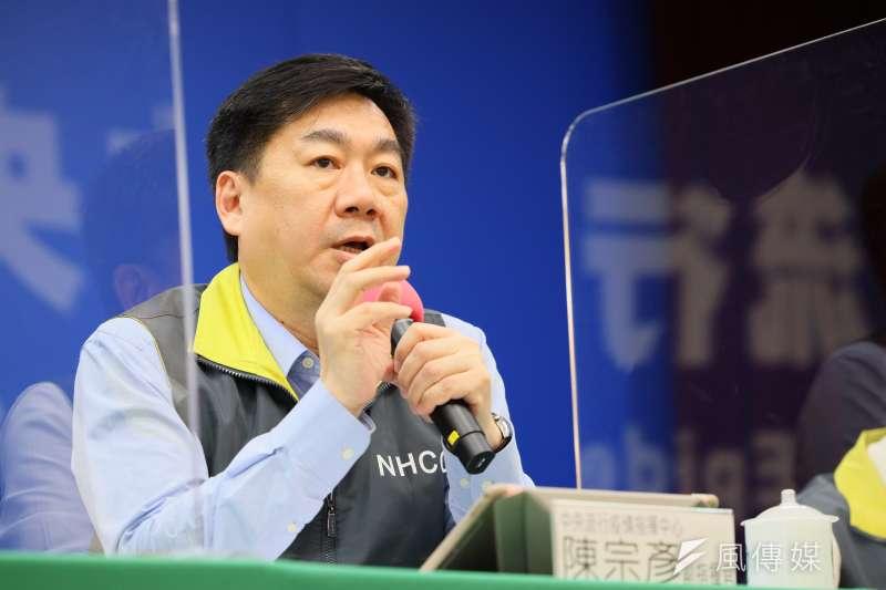 指揮中心副指揮官陳宗彥(見圖)22日表示,目前100多名小小明中僅有1位入境。(資料照,中央流行疫情指揮中心提供)