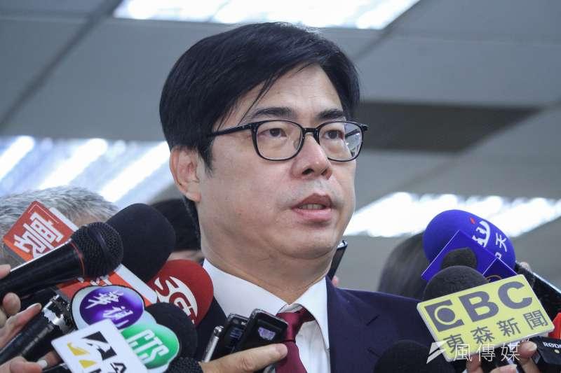 行政院副院長陳其邁(見圖)被視為民進黨的高雄市長補選人選。(蔡親傑攝)