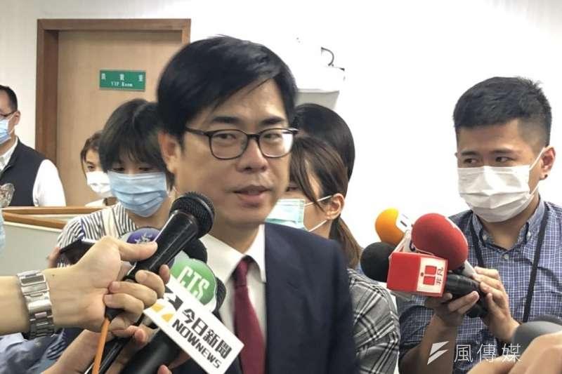 行政院副院長陳其邁(見圖)表示,6日將會回高雄參與市長韓國瑜罷免投票。(顏振凱攝)