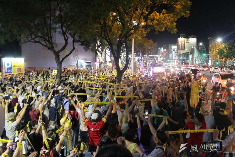 20200605-高雄市長韓國瑜罷免投票將於6日登場,5日晚上進行罷韓最後遊行。(黃信維攝)