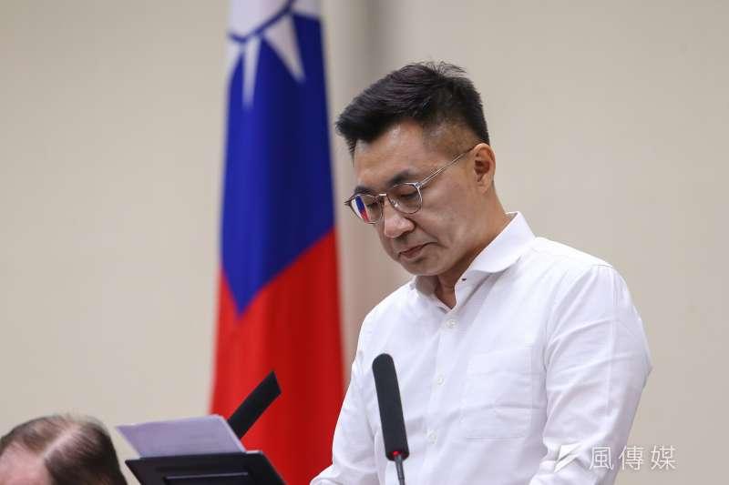 因應罷韓後局勢,國民黨主席江啟臣8日召開擴大主管會報。(顏麟宇攝)