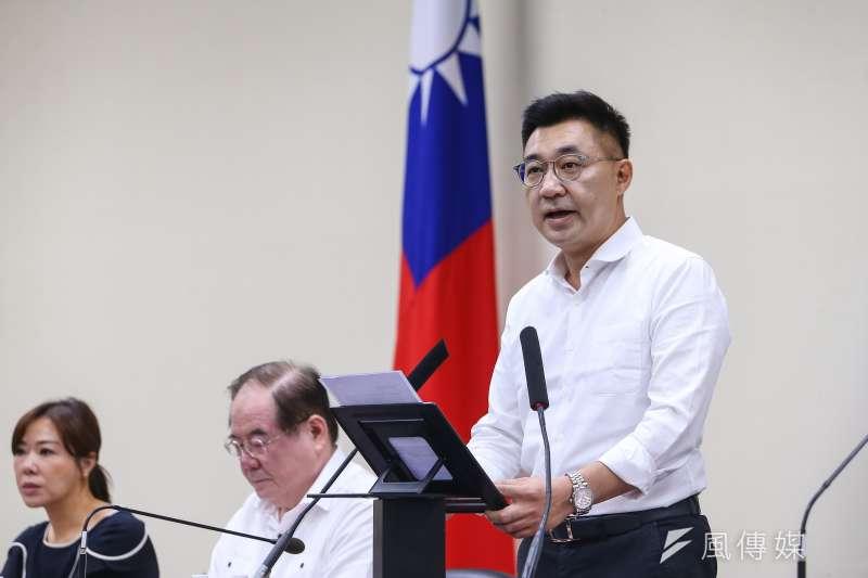 20200608-國民黨主席江啟臣8日召開擴大主管會報。(顏麟宇攝)