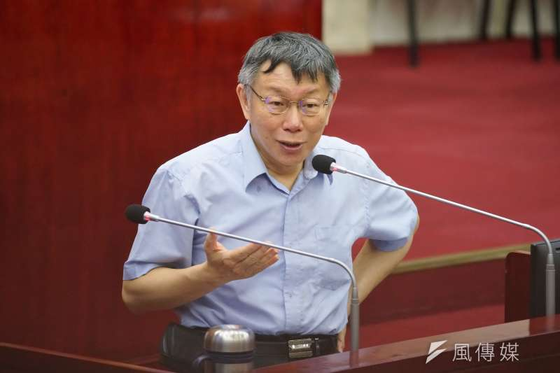 台北市長柯文哲今(9)日接受質詢,談到罷韓過關及一黨獨大的議題時表示,這已經不只一黨獨大,已經到一黨專政的程度。(盧逸峰攝)