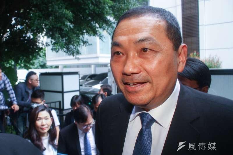 新北市長侯友宜回應高雄市長韓國瑜未來走向的相關問題。(資料照片,蔡親傑攝)