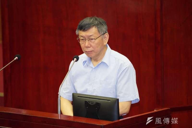 高雄市長韓國瑜12日正式卸任,台北市長柯文哲(見圖)表示,建議韓應先好好休息一陣子。(資料照,盧逸峰攝)