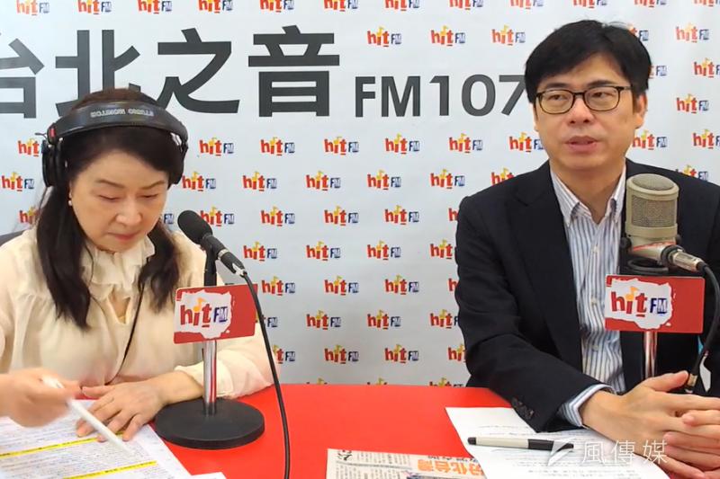 20200609-陳其邁9日接受廣播主持人周玉蔻的專訪,談到對於罷免結果的看法,他表示這是給政治人物的警惕,民意如流水。(取自周玉蔻嗆新聞YouTube頻道)