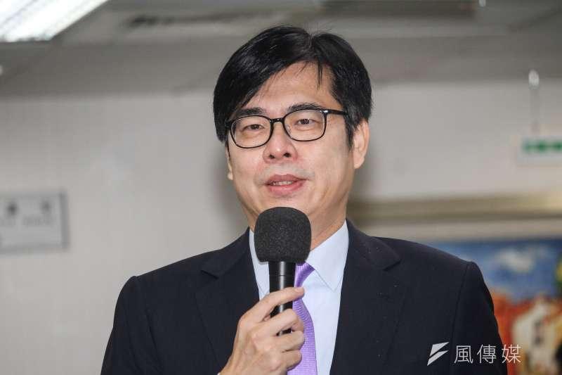 行政院副院長陳其邁(見圖)對於是否任高雄市代理市長及投入補選市長選舉一事,態度相當保留。(資料照,蔡親傑攝)