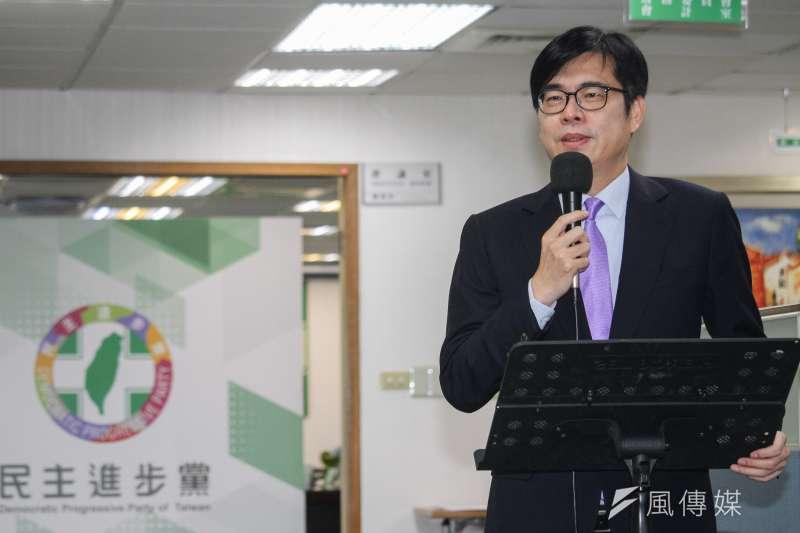 民進黨急著讓敗選的陳其邁重新補選成為高雄市長,中選會把補選時程提前一個月。(蔡親傑攝)