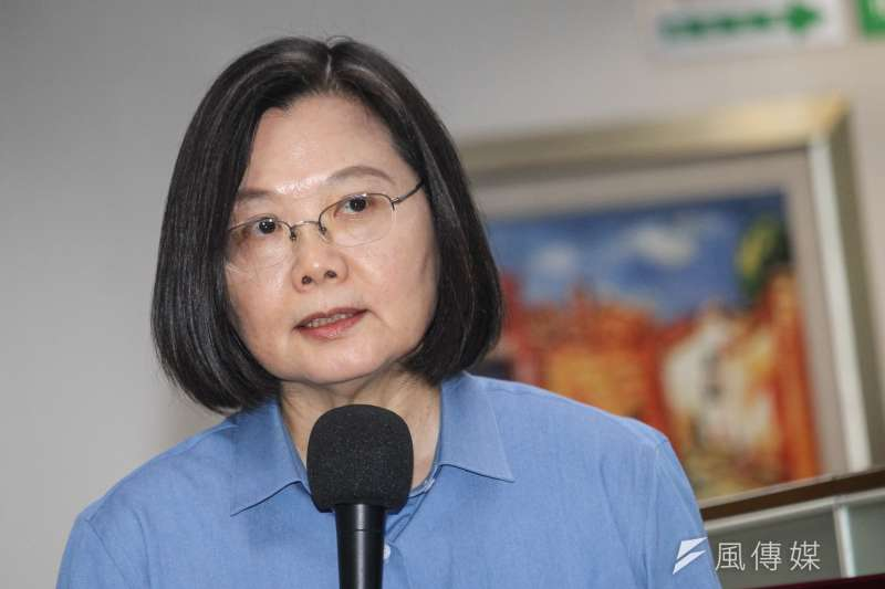 20200610-總統蔡英文10日出席民進黨中執會。(蔡親傑攝)