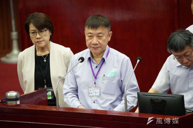 20200611-台北市社會局長劉志光11日出席市政總質詢。(盧逸峰攝)