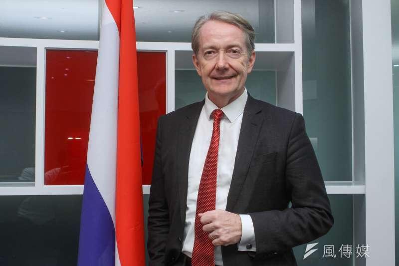 荷蘭駐台代表紀維德接受《風傳媒》專訪。(蔡親傑攝)
