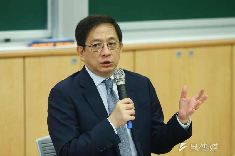 20200613-台大校長管中閔13日於校務會議後召開記者會說明。(顏麟宇攝)