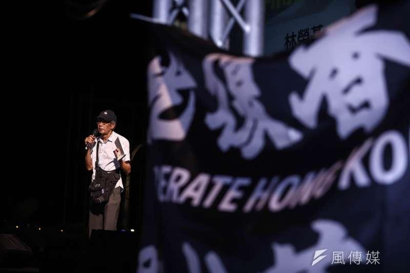 20200613-「抗爭未完,台港同行」反送中一週年晚會活動,香港銅鑼灣書店店長林榮基。( 陳品佑攝)