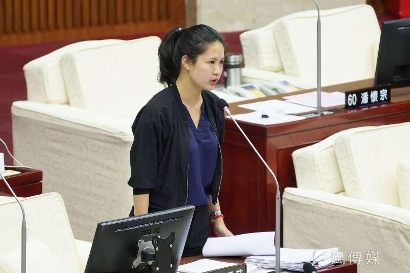 20200615-台北市議員林亮君15日出席市政總質詢。(盧逸峰攝)