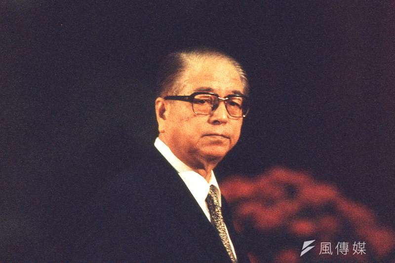 非主流派大將林洋港在國民黨1993年總統選舉方式角力中,與李登輝站在同一邊,主張「公民直選」。(新新聞資料照)