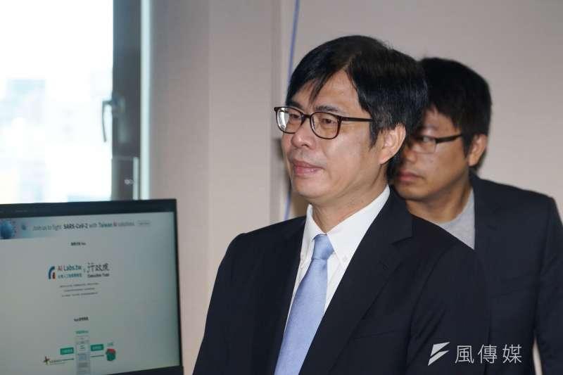 20200615-行政院副院長陳其邁15日參訪台灣人工智慧實驗室。(盧逸峰)